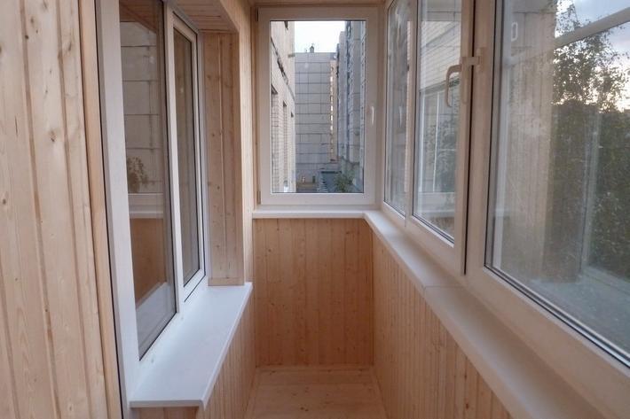 Цена обшивки балкона вагонкой под ключ