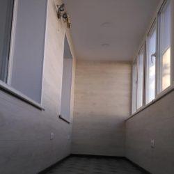 Фото отделки лоджии ламинатом