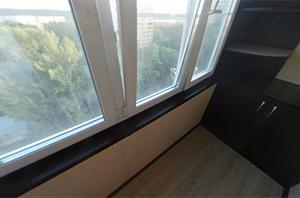 Ремонт балкона в доме серии Башня Вулыха