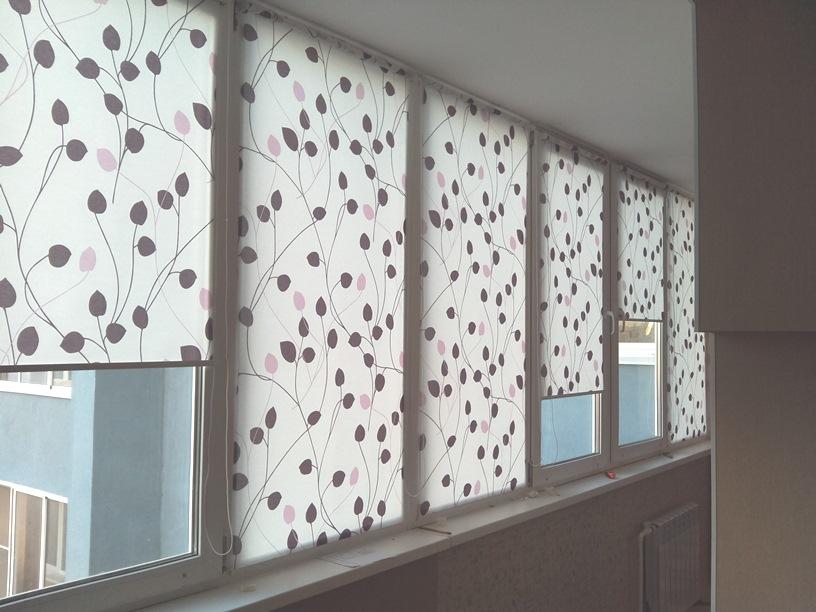 Рулонные жалюзи для балконов и лоджий